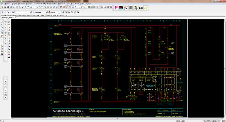 Schemi Elettrici Legenda : Progettazione quadri elettrici e software per automazione brescia